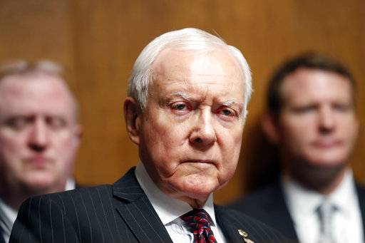 FILE - In this Sept. 20, 2017, file photo, Sen. Orrin Hatch, R-Utah, listens during a Senate Judiciary Committee hearing on Capitol Hill in Washington. Hatch says he is retiring after four decades in Senate (AP Photo/Alex Brandon, File)