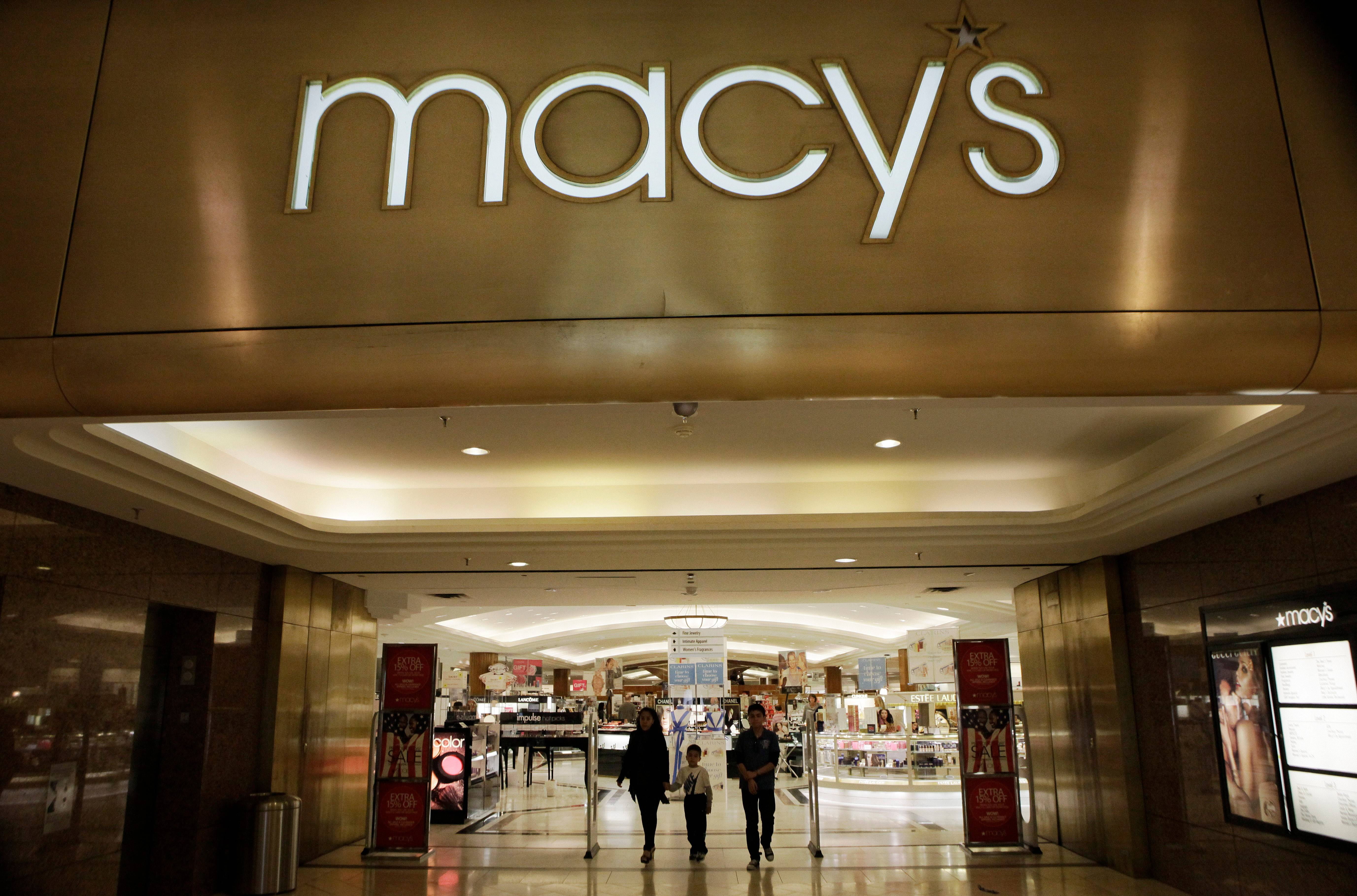 Macy's reported 1.1 percent growth in same-store sales during November and December, but the company said Thursday that it plans to 11 U.S. stores in the coming weeks.