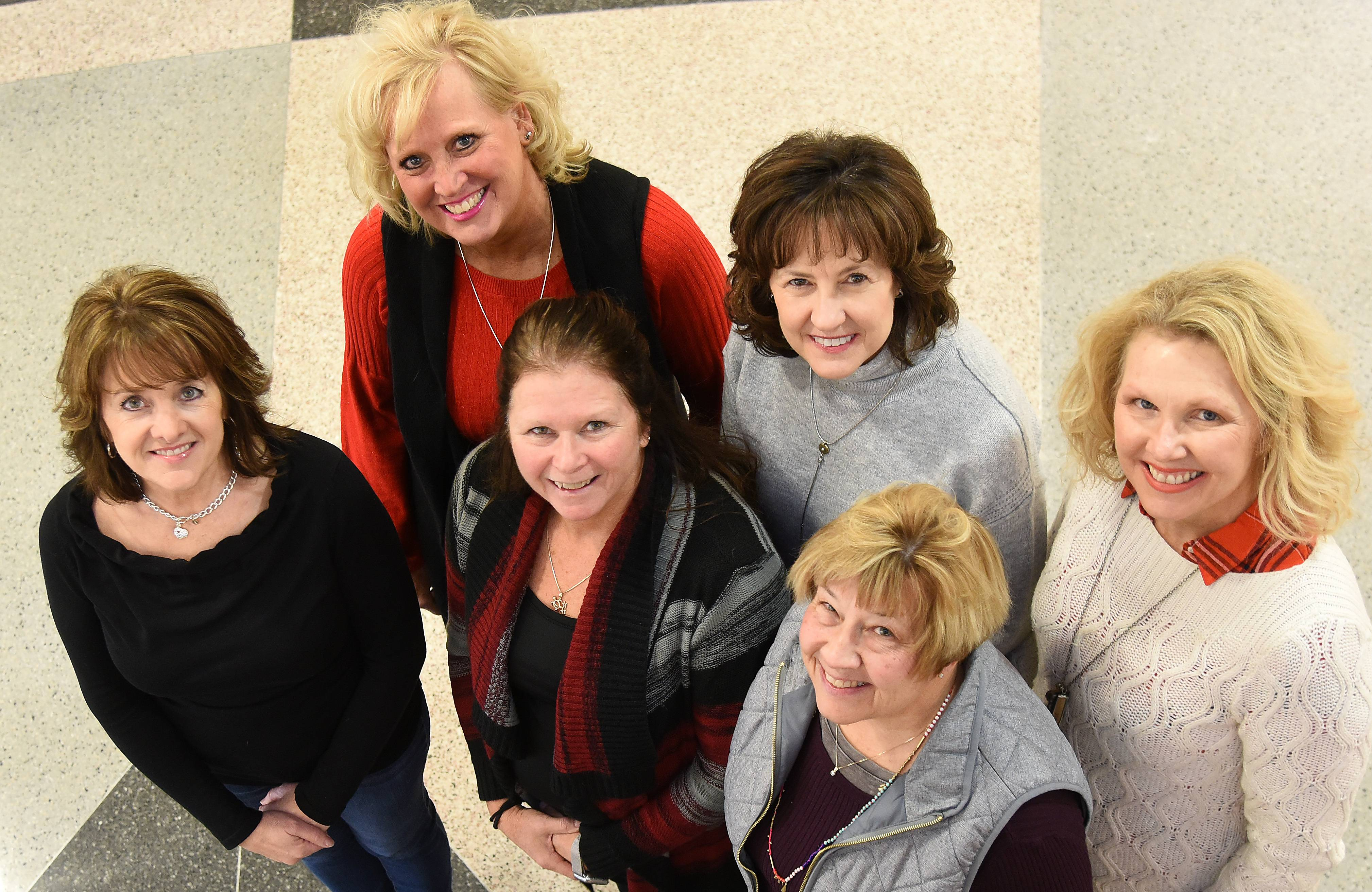 A group of women started a Fox Valley Military Moms on a Mission group last summer and held five collection drives in 2017 to donate items to members of the military. Pictured, front row from left, are Tamara Scaffidi of St. Charles, Kim Rodriguez of Elgin, Terri Lynn Johnson of Elgin. Back row from left, Nancy Meaney of South Elgin, Marianne Jamison of St. Charles and Jackie Hovious of St. Charles.