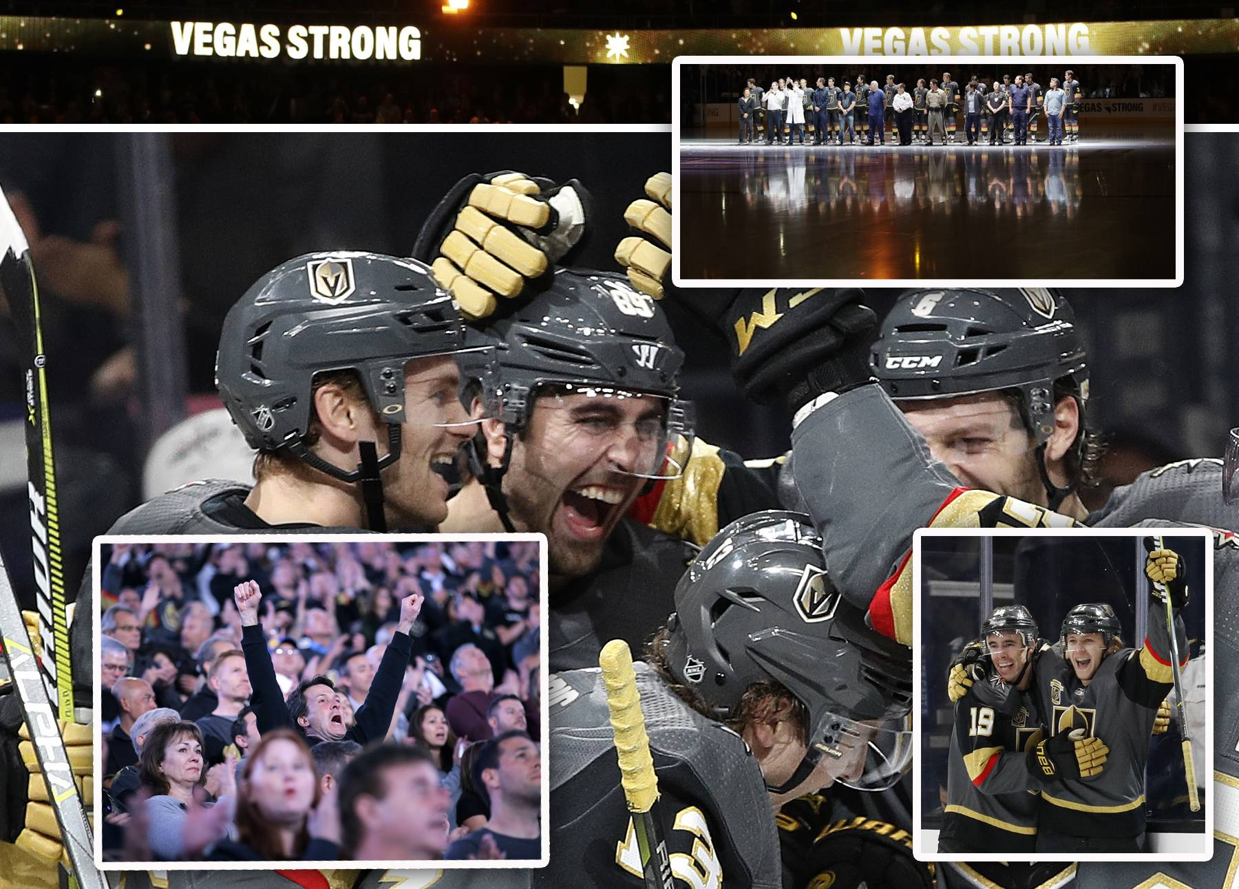 The upstart Vegas Golden Knights are providing thrills in their inaugural NHL season.