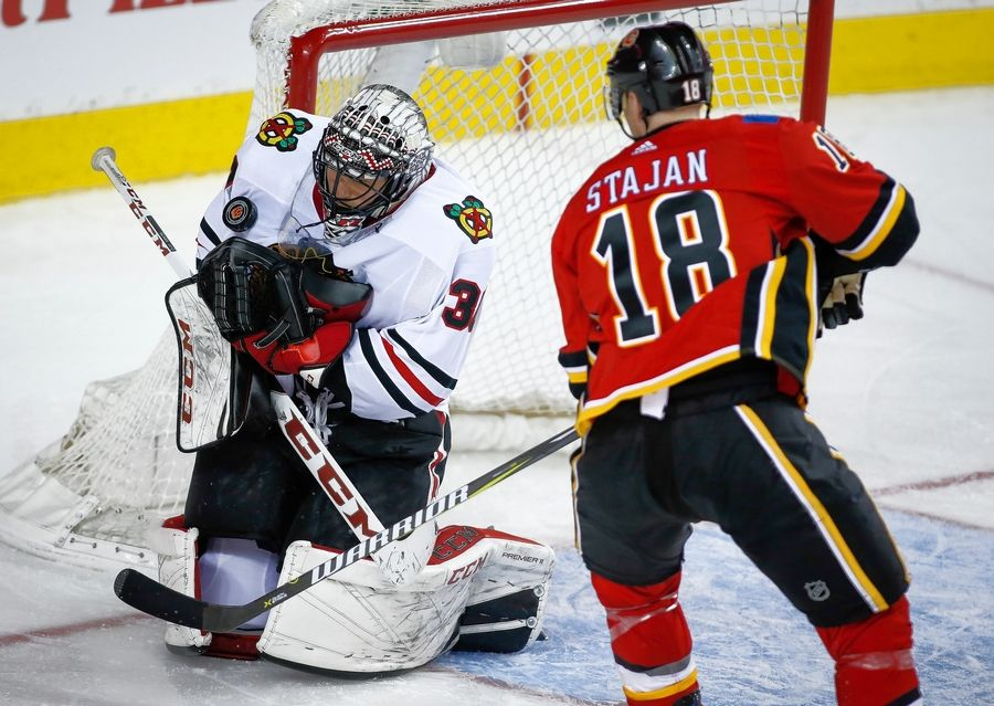 Blackhawks goalie Jeff Glass is 2-1-1 with a .908 save percentage after Friday's loss to the Vegas Golden Nights.