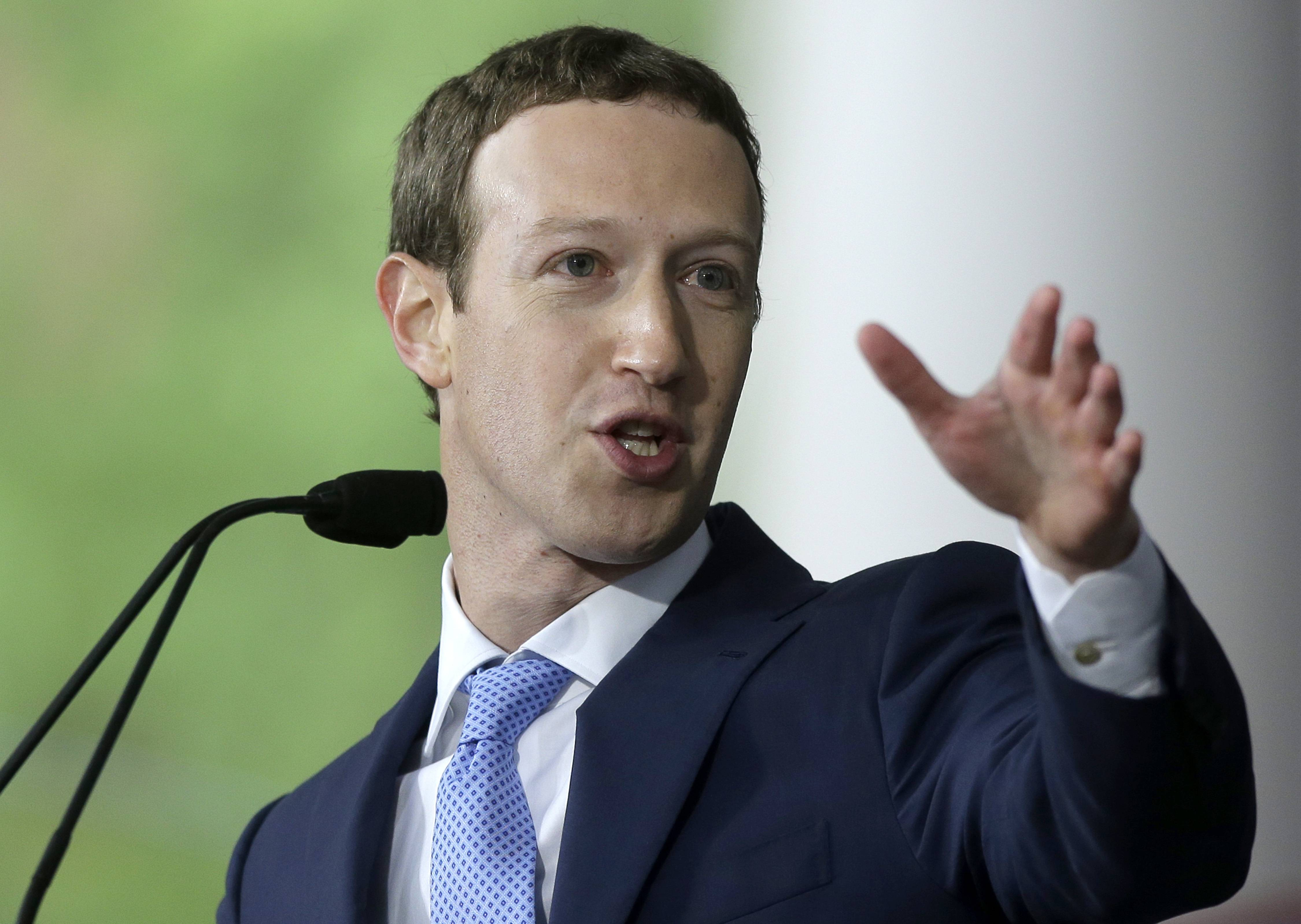 "Facebook CEO Mark Zuckerberg says his ""personal challenge"" for 2018 is to fix Facebook. Zuckerberg wrote in a post Thursday, Jan. 4, 2018, that he now wants to focus on protecting Facebook users from abuse, defending against interference by nation-states and ""making sure that time spent on Facebook is time well spent."""