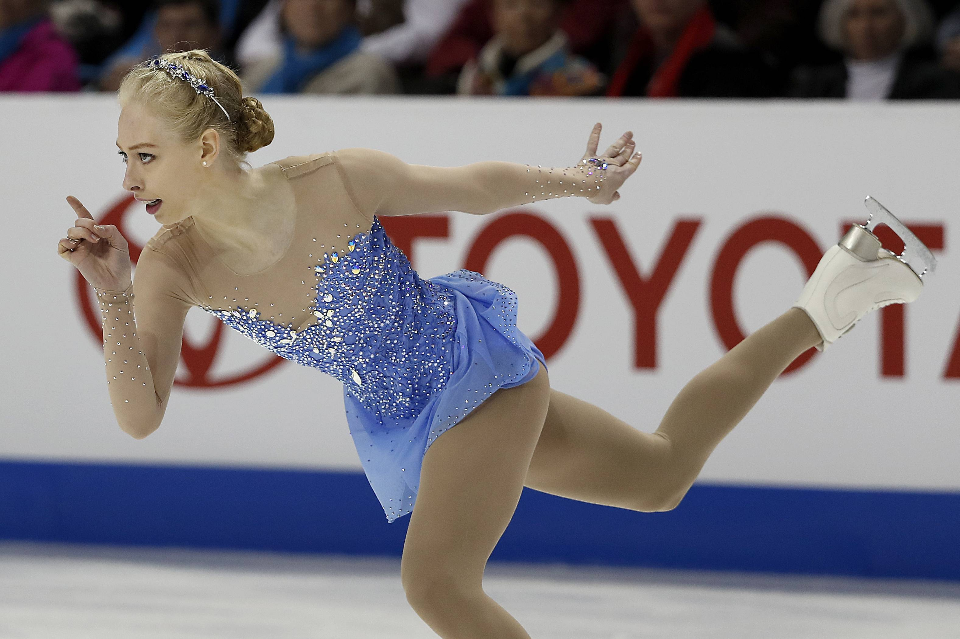 Bradie Tennell performs during the women's free skate Friday at the U.S. Figure Skating Championships in San Jose, California.