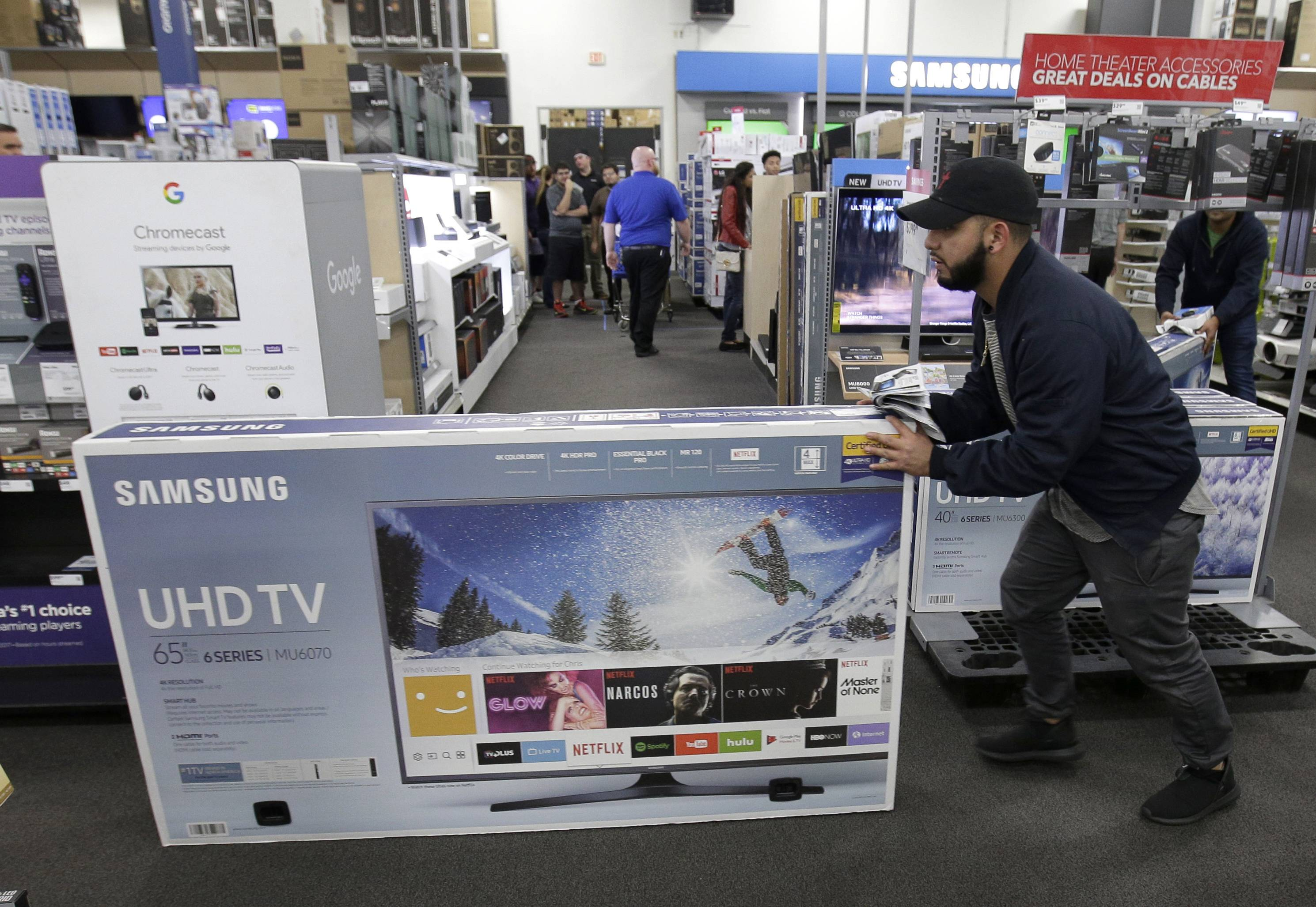 Just before the Super Bowl, retailers normally discount their selections of HDTVs and other home-theater essentials making January a good month to shop for electronics.