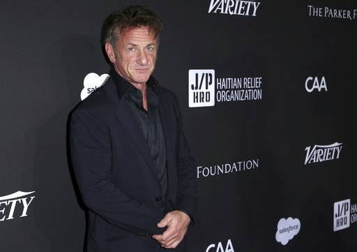 Sean Penn arrives at the 2018 Sean Penn J/P Haitian Relief Organization Gala at Milk Studios on Saturday, Jan. 6, 2018, in Los Angeles. (Photo by Willy Sanjuan/Invision/AP)