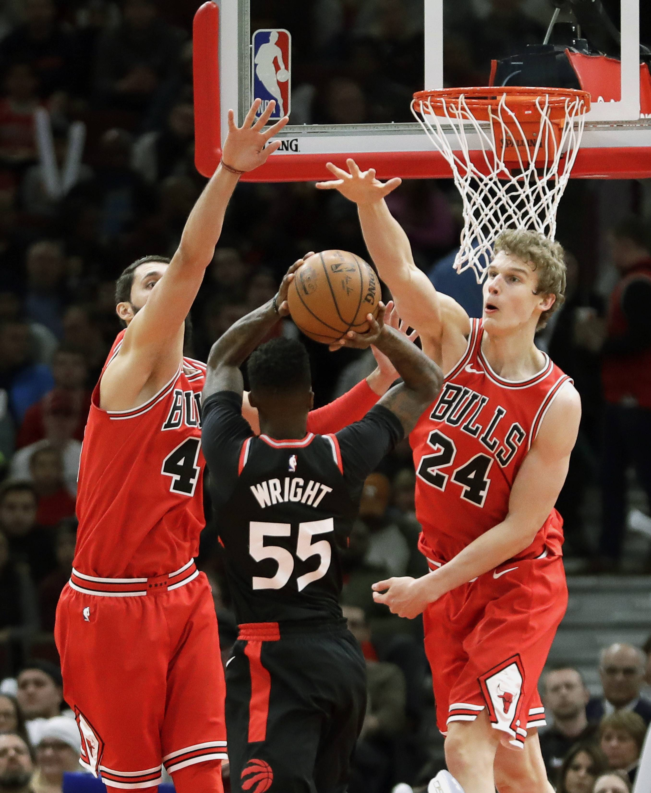 Do the Chicago Bulls think Nikola Mirotic, left, and Lauri Markkanen, far right, can play together or are they redundant? That's just one of the decisions the team must make in the coming weeks.