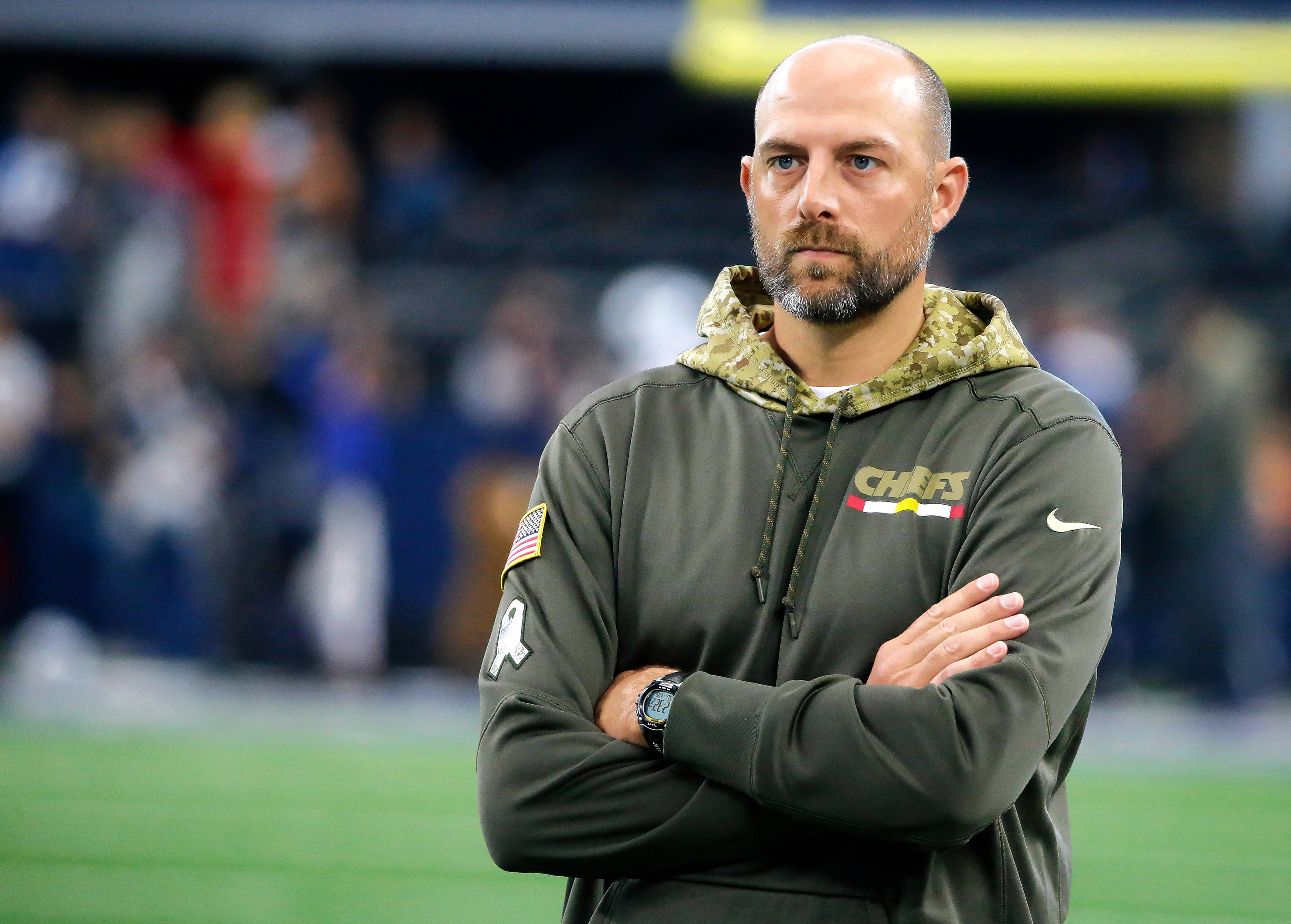 Kansas City offensive coordinator Matt Nagy helped the Chiefs become one of the most explosive offenses in the NFL this season. Nagy interviewed with Bears officials on Sunday for their head coach vacancy.