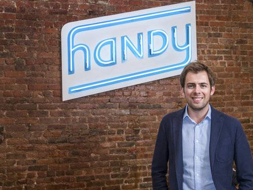 In this Oct. 27, 2015, photo provided by Carlos Alvarado Photography and Handy Technologies, Inc., Handy CEO and co-founder Oisin Hanrahan poses for a portrait in New York. Handy originally started out as an online platform to hire professionals to clean homes or put up a ceiling fan, but has expanded into partnerships with retailers to offer its services to shoppers from assembling furniture to hanging flat screen TVs. (Carlos Alvarado/Courtesy of Handy Technologies, Inc. via AP)
