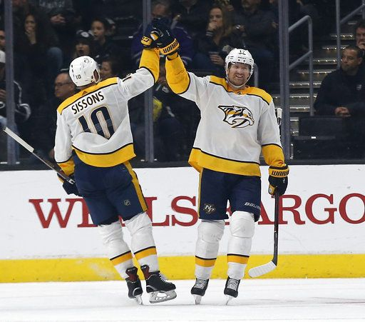 Austin Watson S 2 Goals Key Predators 4 3 Win Over La Kings
