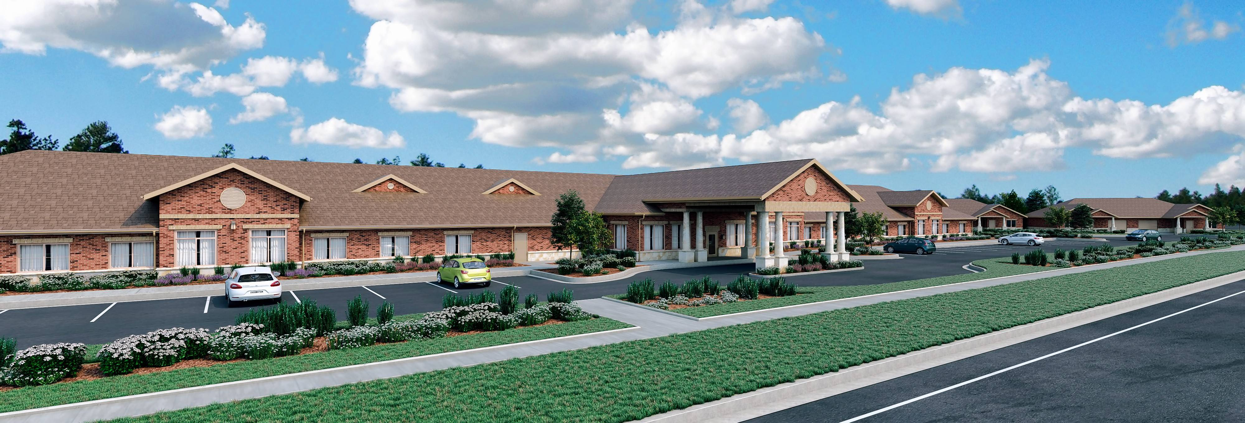 A sketch shows what the Waverly Inn Memory Care Community will look like when finished. Construction is nearing competition at 515 W. Rand Road in Arlington Heights.