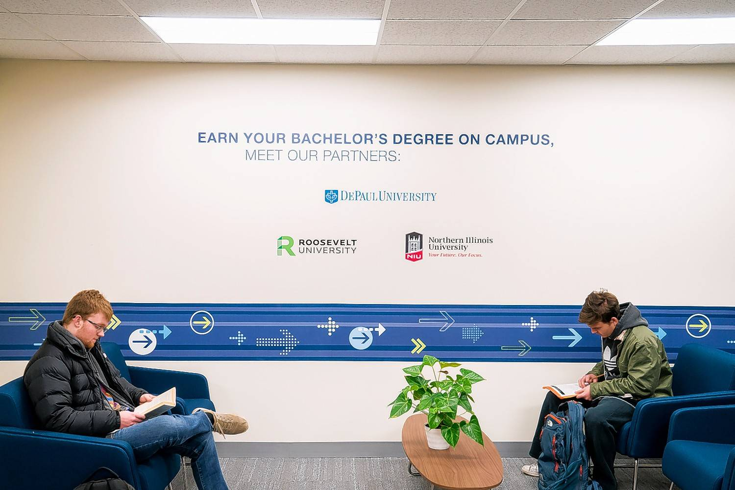 Harper College's new University Center was formed in partnership with three universities to offer bachelor's degrees in six disciplines.