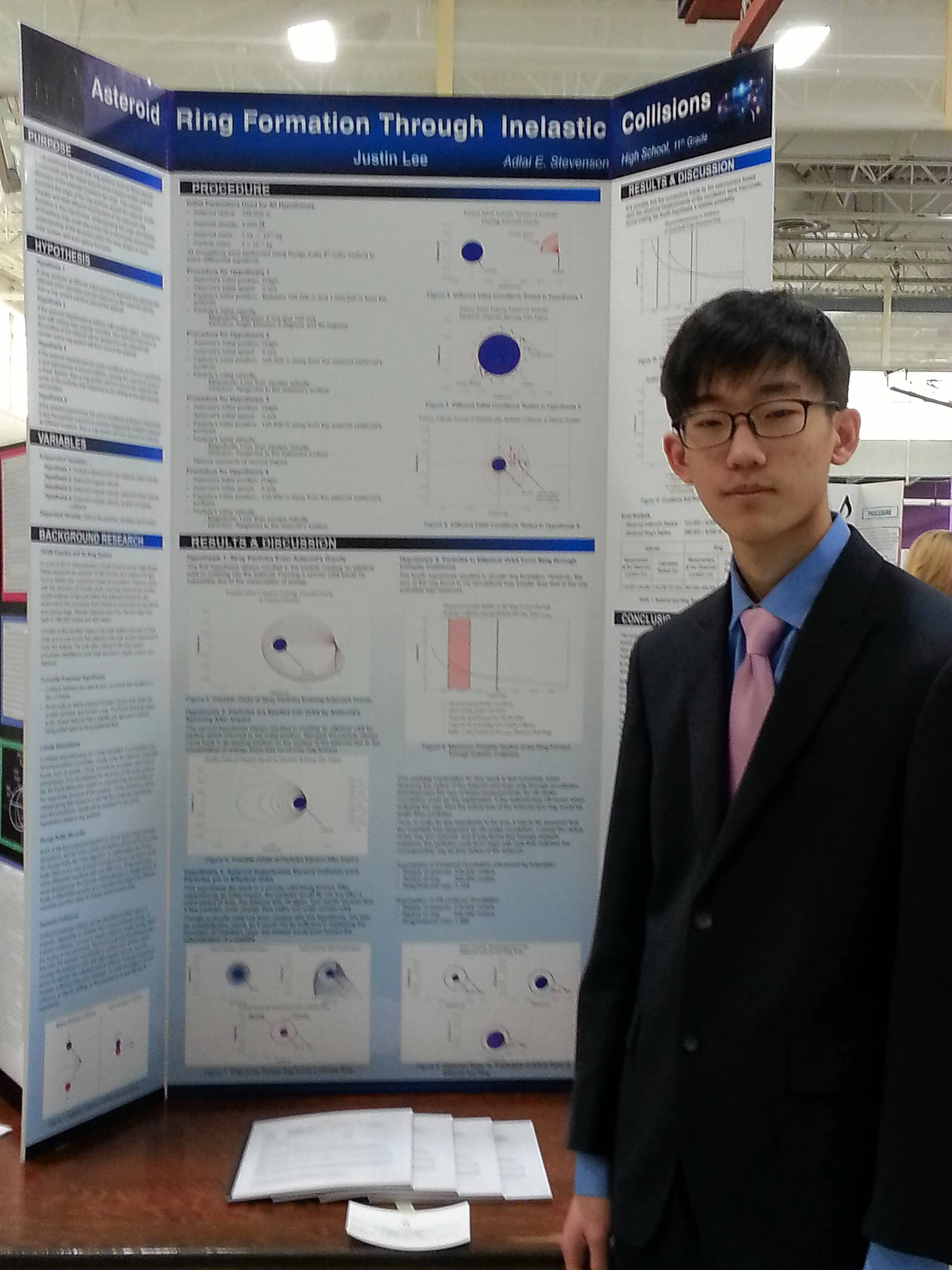 Stevenson High School senior Justin Lee was a first-place state winner at the Illinois Junior Academy of Science Fair last May.