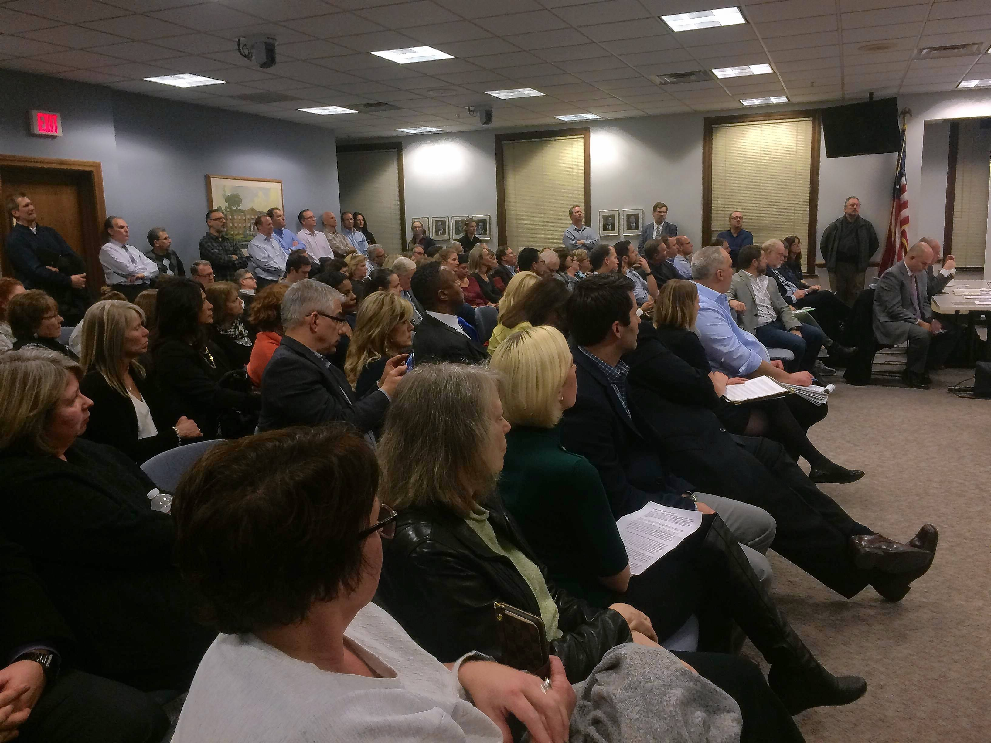 Residents pack Wheaton hearing to protest proposed drug treatment center