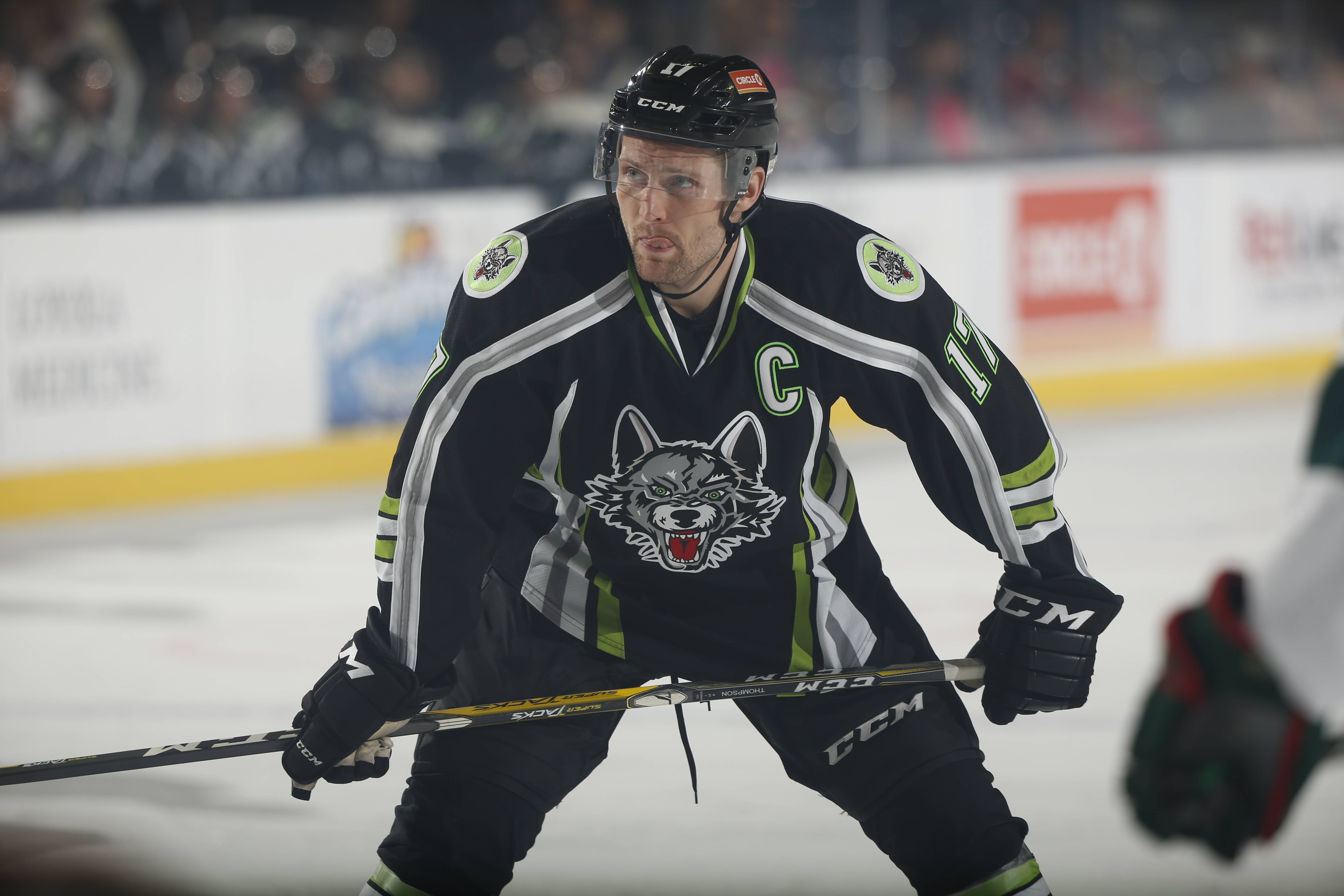 Wolves captain Paul Thompson has helped the Wolves score often in their 14-game point streak.
