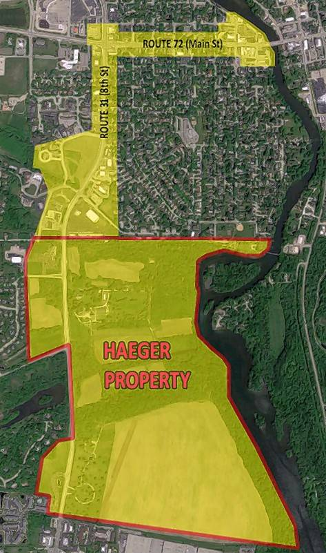 A proposed tax increment financing district in West Dundee would include the village's downtown, properties along Route 31 and parcels belonging to the Haeger family.