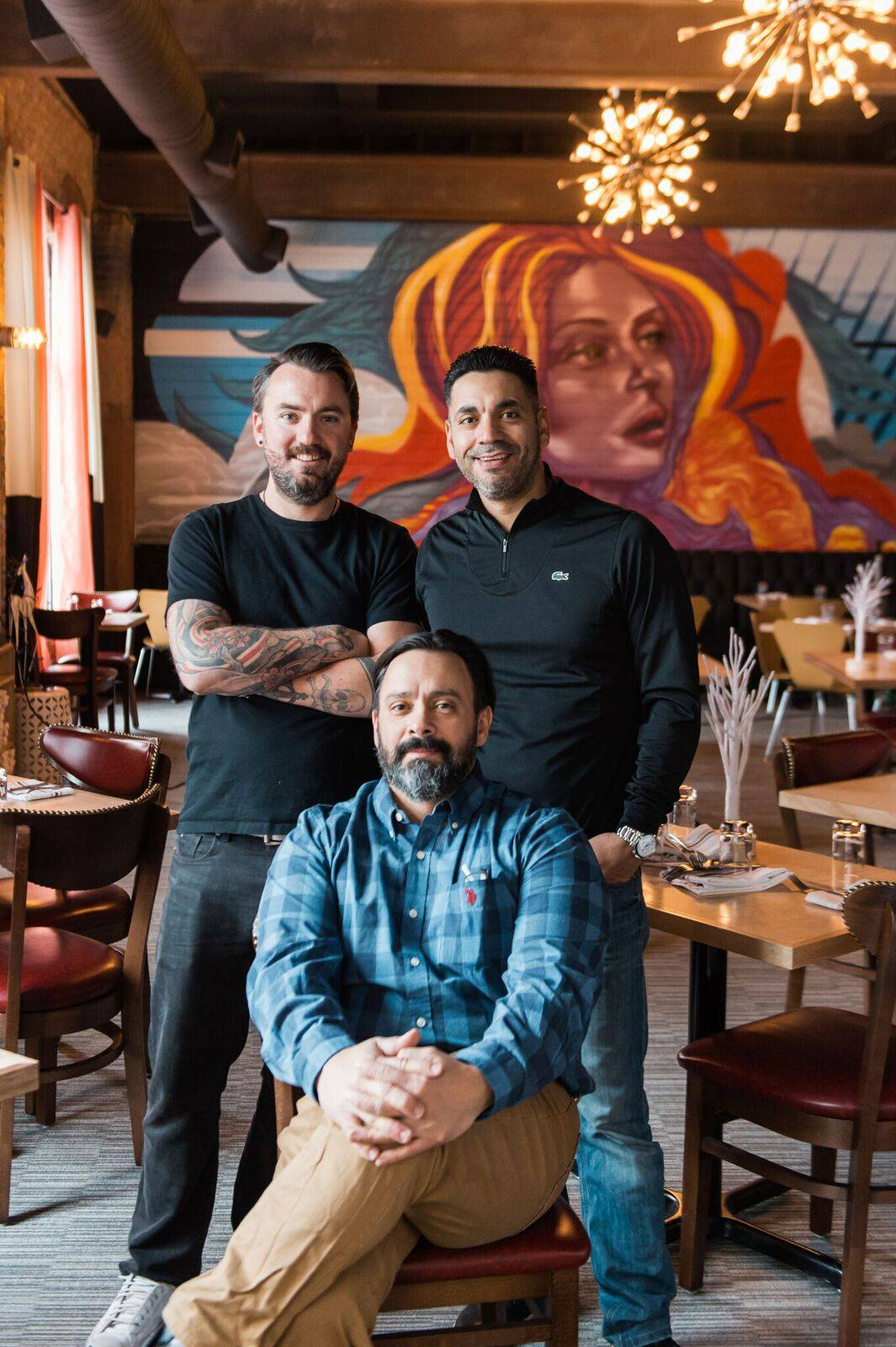 From left, Chef Andrew Sikkelerus and co-owners Francisco Chavez and Bernie Laskowski of Craft Urban say the new Geneva restaurant has gotten off to a strong start in the two months it's been open.