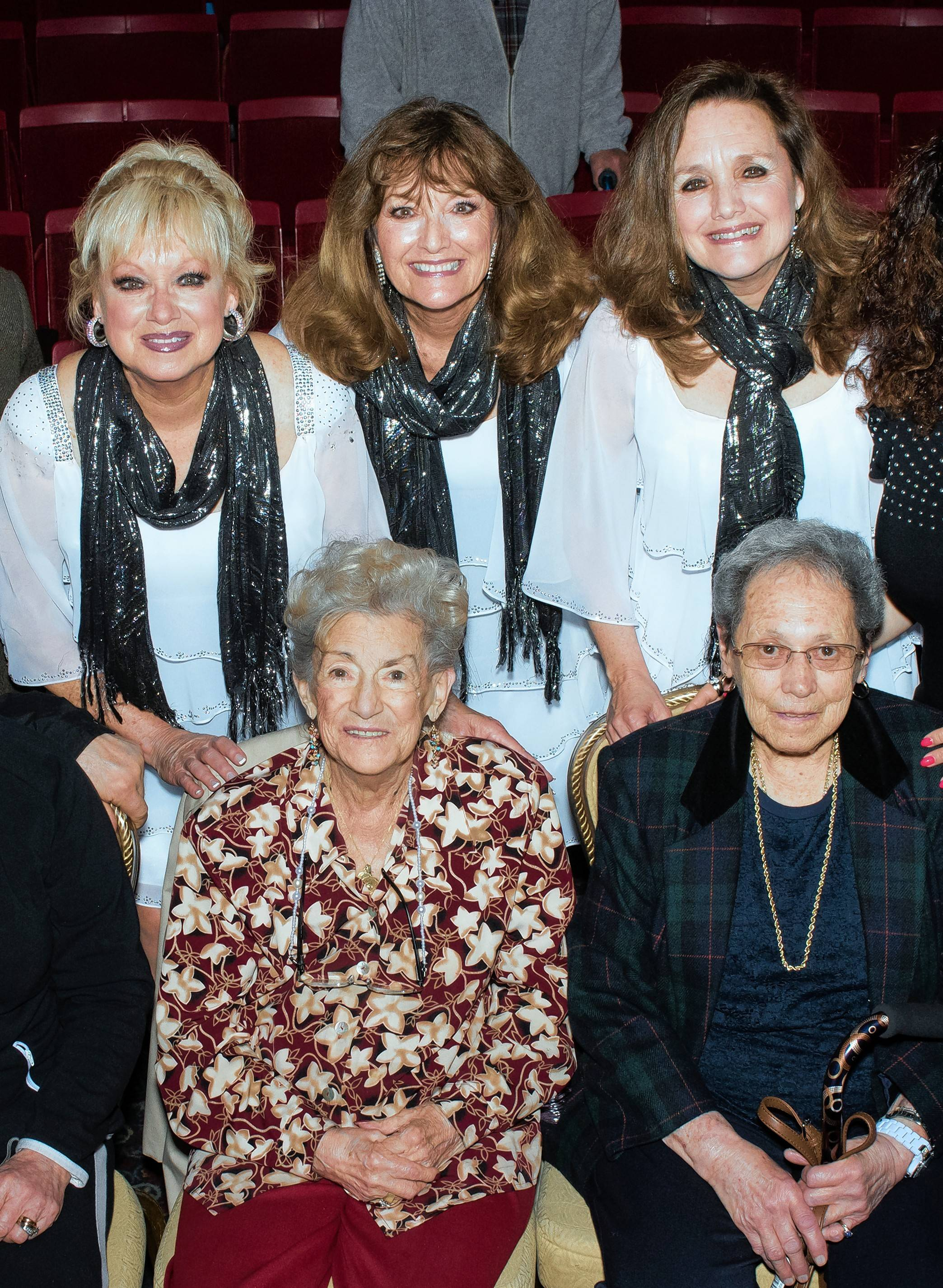 The Lennon Sisters, pictured with Ron Onesti's mom, front row left, performed at The Arcada in 2017. Ron's mother, a big fan of the Lennon Sisters, passed away shortly after the concert.