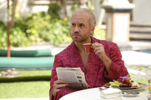 "This image released by FX shows Edgar Ramirez as Gianni Versace in a scene from ""The Assassination of Gianni Versace: American Crime Story,"" premiering Jan. 17, on FX.  (Jeff Daly/FX via AP)"