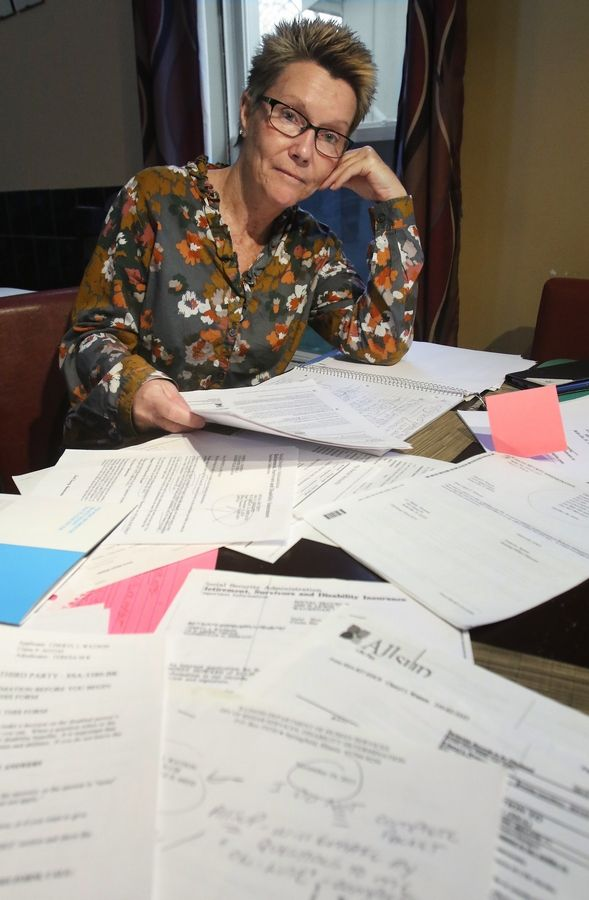 "In pain and unable to work, Cheryl Watson of Hainesville says she still was ""embarrassed"" by having to apply for Social Security disability benefits in 2015. More than two years later, she's still working to get approved."