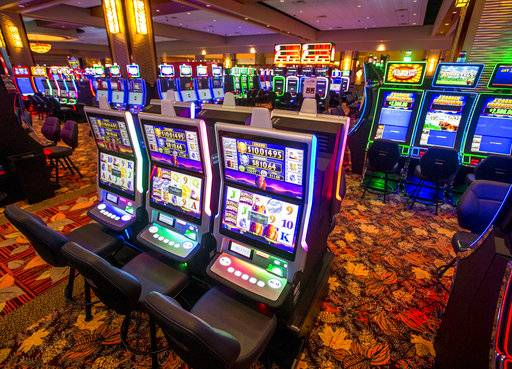 This photo taken Tuesday, Jan. 9, 2018, shows the gaming room inside the new Four Winds Casino Resort in South Bend, Ind. The Pokagon Band of Potawatomi Indians is set to open the casino on Tuesday, Jan. 16, joining three other casinos it already operates nearby in southwestern Michigan. (Robert Franklin/South Bend Tribune via AP)