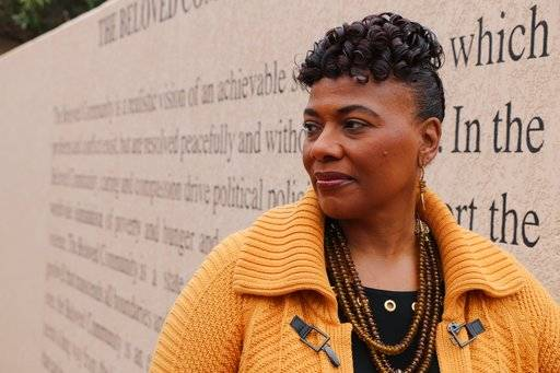 Bernice King, the daughter of the Rev. Martin Luther King, Jr., is seen outside of The Martin Luther King Jr. Center for Nonviolent Social Change in Atlanta on Wed., Jan. 10, 2018.