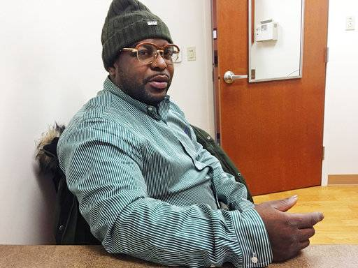 Medicaid recipient Thomas J. Penister, of Milwaukee, responds to a question during an interview Friday, Jan. 12, 2018, in Milwaukee. Penister does not favor a work requirement in order to receive Medicaid because of the varying circumstances of the individuals receiving the health insurance. (AP Photo/Gretchen Ehlke)