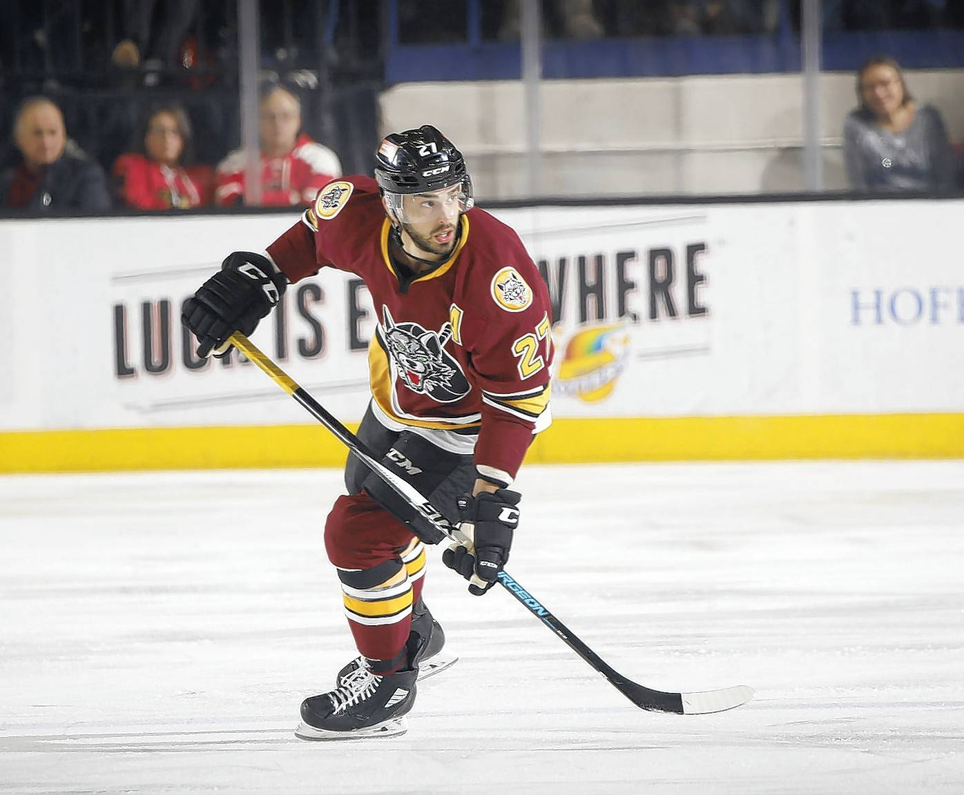 Chicago Wolves forward Brandon Pirri hopes his success in the AHL translates to another chance in the NHL.