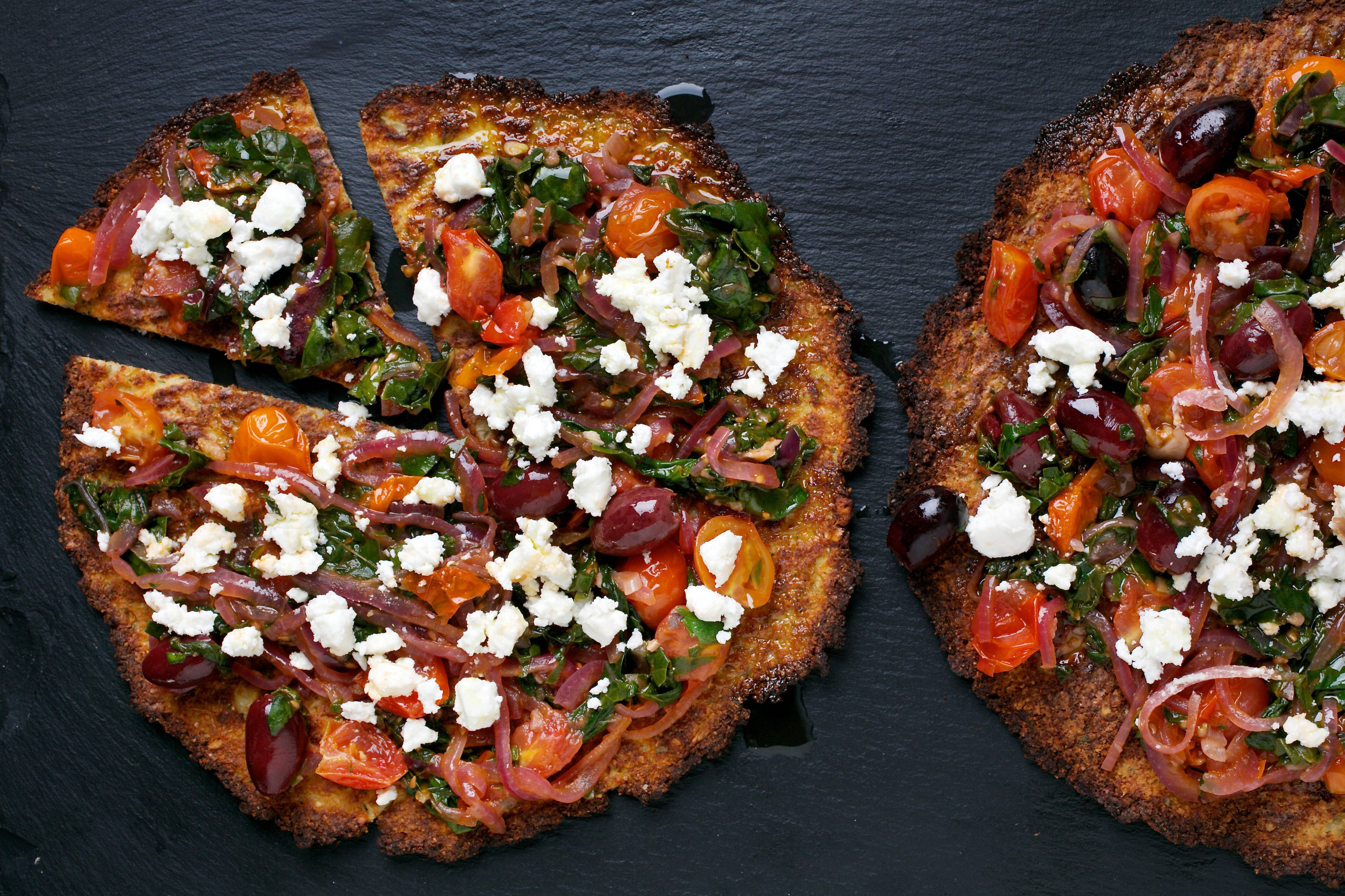 Cauliflower Pizzas With Chard and Olives is made with a perfected technique from Zita Steyn.