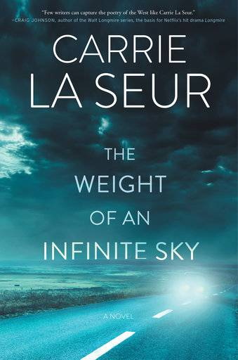 "This cover image released by William Morrow shows ""The Weight of an Infinite Sky,"" by Carrie La Seur. (William Morrow via AP)"
