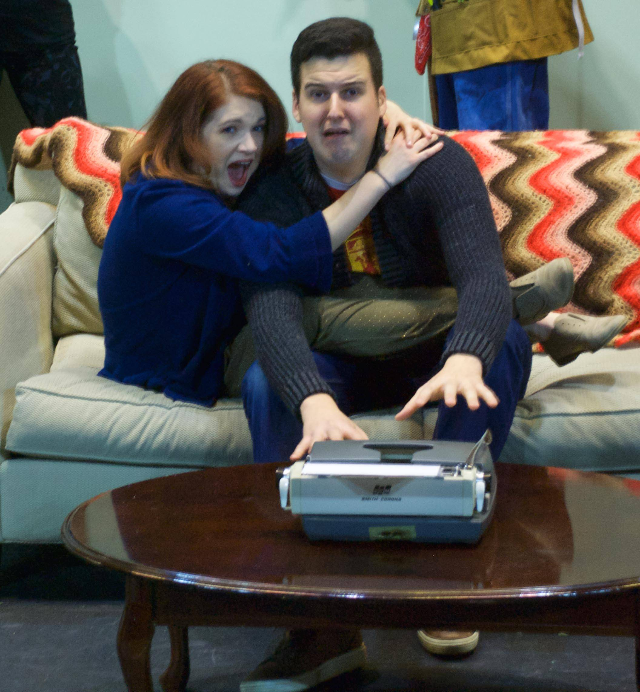 "Two playwrights are locked in an apartment to meet a deadline but find themselves distracted in Wheaton Drama's ""Sex in the Title."""