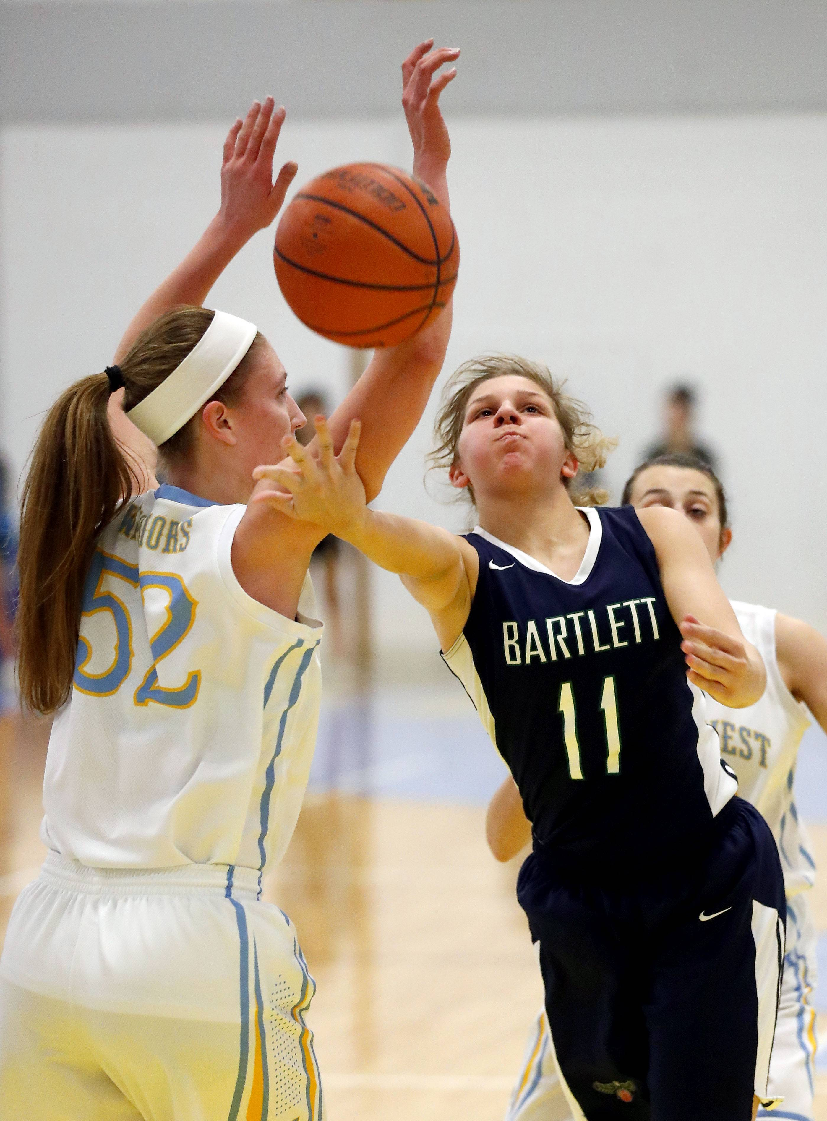 Bartlett's Lexie Sinclair is leading the area freshmen in scoring averaging 13.7 points a game.