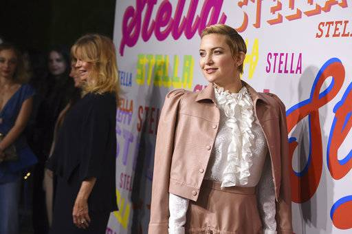 Kate Hudson arrives at the Stella McCartney Autumn 2018 Presentation on Tuesday, Jan. 16, 2018, in Los Angeles. (Photo by Jordan Strauss/Invision/AP)