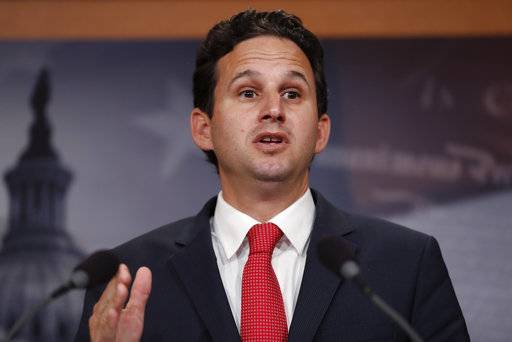 "FILE - In this May 24, 2017, file photo, Sen. Brian Schatz, D-Hawaii, speaks during a news conference on Capitol Hill in Washington. A timeline shows Hawaii officials botched efforts to immediately correct a false missile alert over the weekend. Schatz said Wednesday, Jan. 17, 2018, that Gov. David Ige has a ""tough decision in front of him"" in terms of leadership changes and that restoring the public's confidence in the alert system is critical. (AP Photo/Carolyn Kaster, File)"