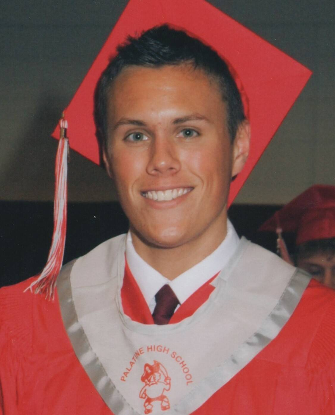 David Bogenberger, seen here at his Palatine High School graduation in June 2012, died later that year after a fraternity hazing at Northern Illinois University.