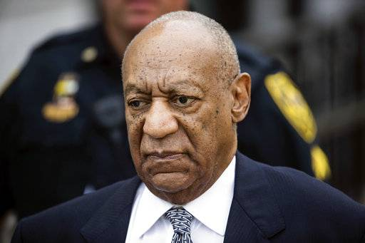 FILE- In this Aug. 22, 2017, file photo, Bill Cosby departs after a pretrial hearing in his sexual assault case at the Montgomery County Courthouse in Norristown, Pa. Jury selection for Cosby's criminal sex assault retrial will start March 29 in the suburban Philadelphia county where he's accused of drugging and molesting a woman in 2004.