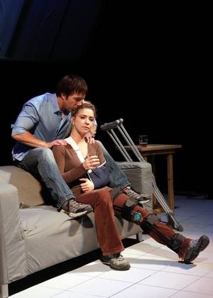 """Brad Lawrence and Lisa Dawn co-star in Buffalo Theatre Ensemble's production of """"Time Stands Still"""" by Donald Margulies."""