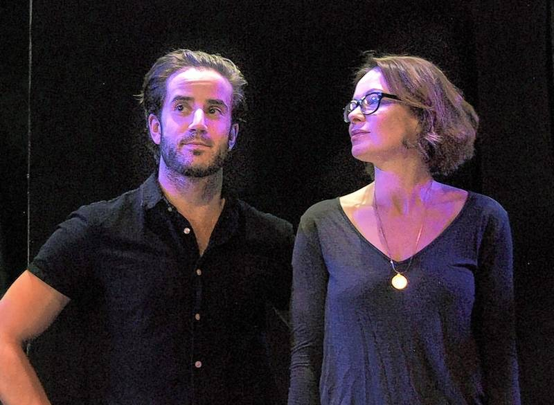 """Rich Holton and Nina O'Keefe star in Citadel Theatre's revival of Laura Eason's two-hander """"Sex With Strangers."""""""