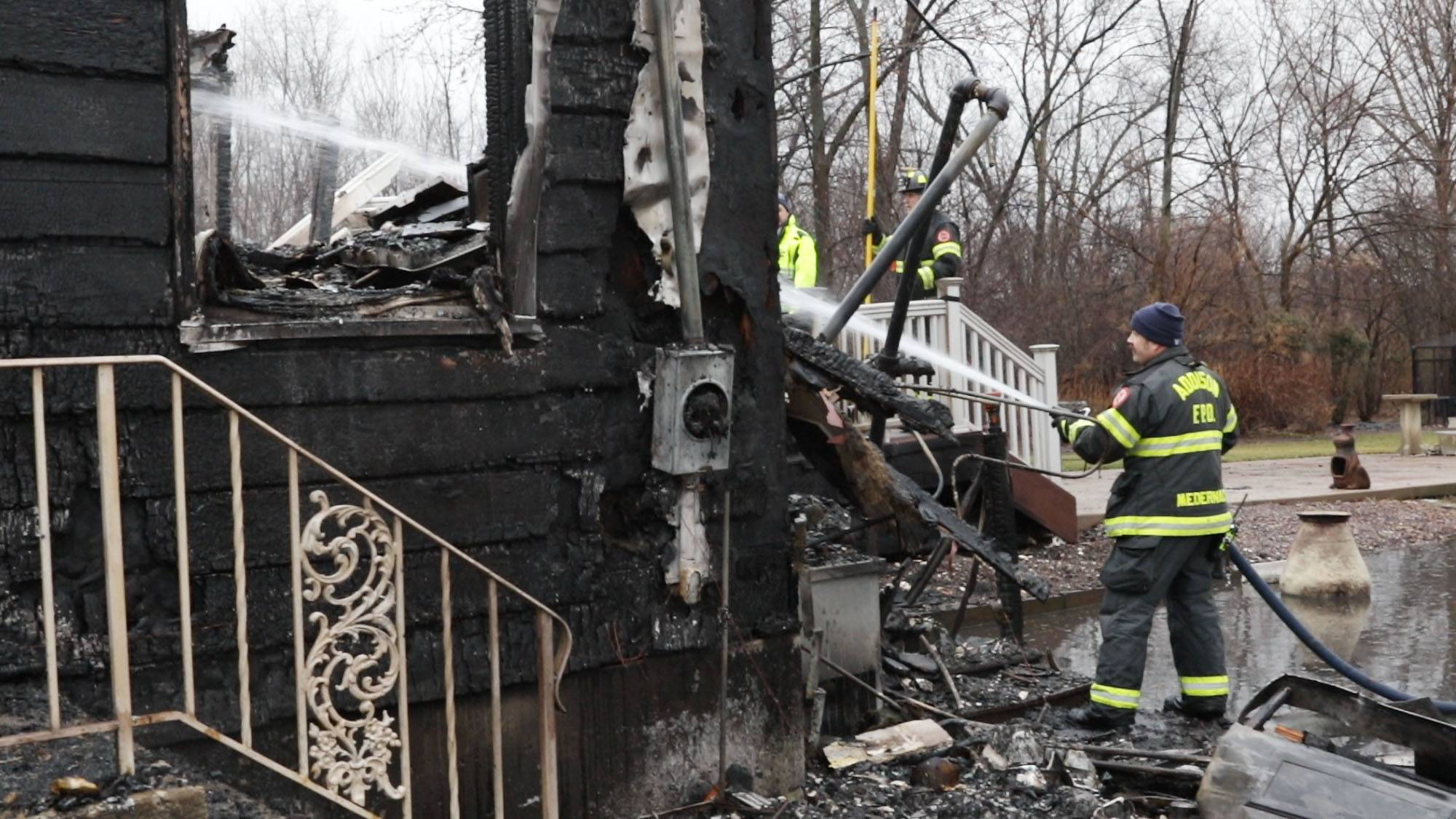 Officials working to identify Addison fire victims