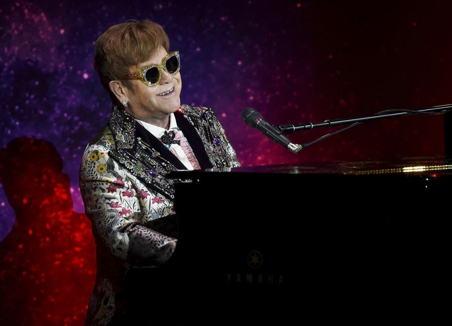ca42fa2abc9 Singer Elton John performs before announcing final world tour at Gotham  Hall on Wednesday