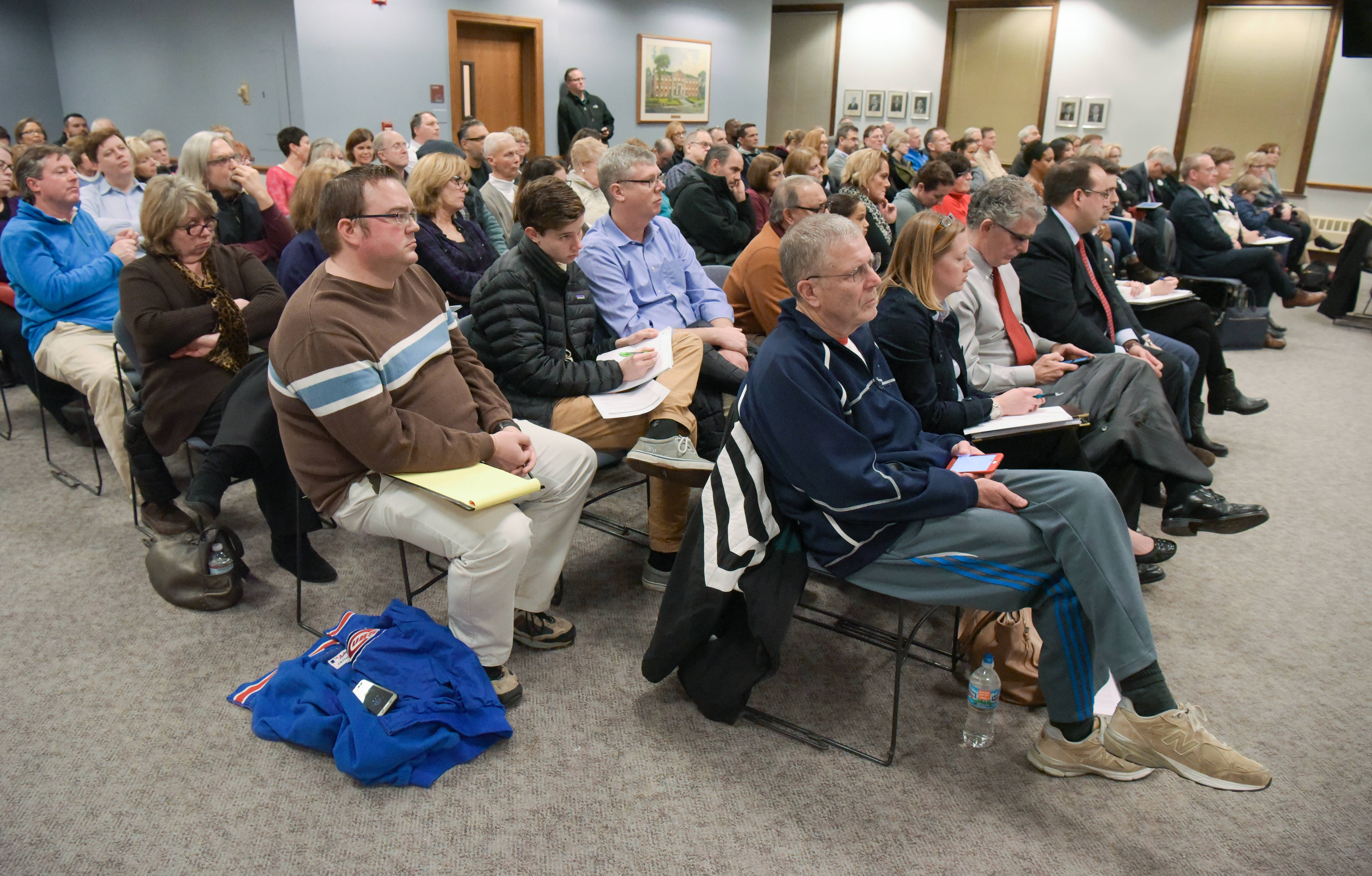 More than 100 people attended a Wheaton planning and zoning board meeting Tuesday where the panel voted against a permit for a residential drug treatment center. The city council will make the final decision.