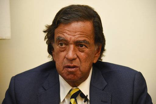 "During an interview with the Associated Press, Former New Mexico Gov. Bill Richardson said he has resigned from an advisory panel trying to tackle the massive Rohingya refugee crisis, Wednesday, Jan. 24, 2018, in Yangon, Myanmar. Richardson said the attempt to repatriate the refugees was a ""whitewash and a cheerleading operation� for the government of Myanmar leader Aung San Suu Kyi. (AP Photo/Thet Htoo)"