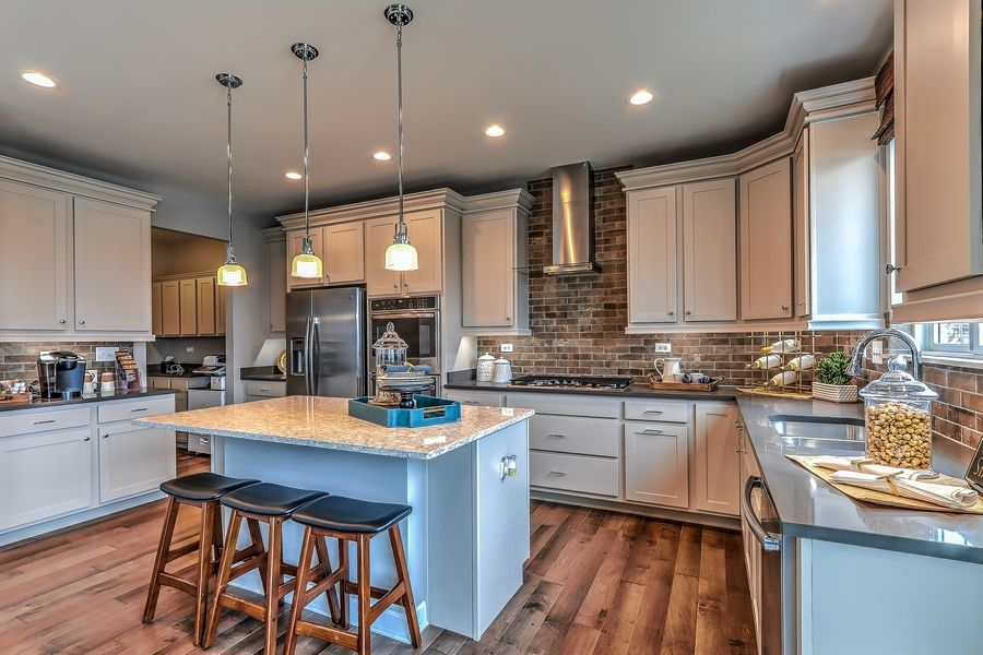 This kitchen is found in the Naper model at Tramore in Naperville.
