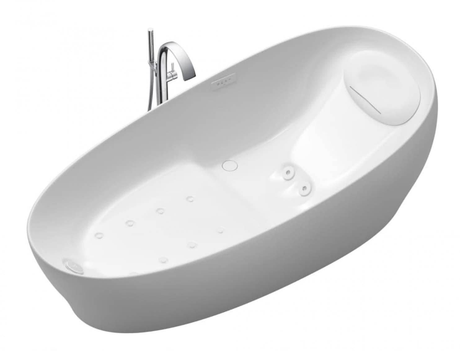 The Toto bathtub's zero dimension technology will make you feel as if you're weightless.