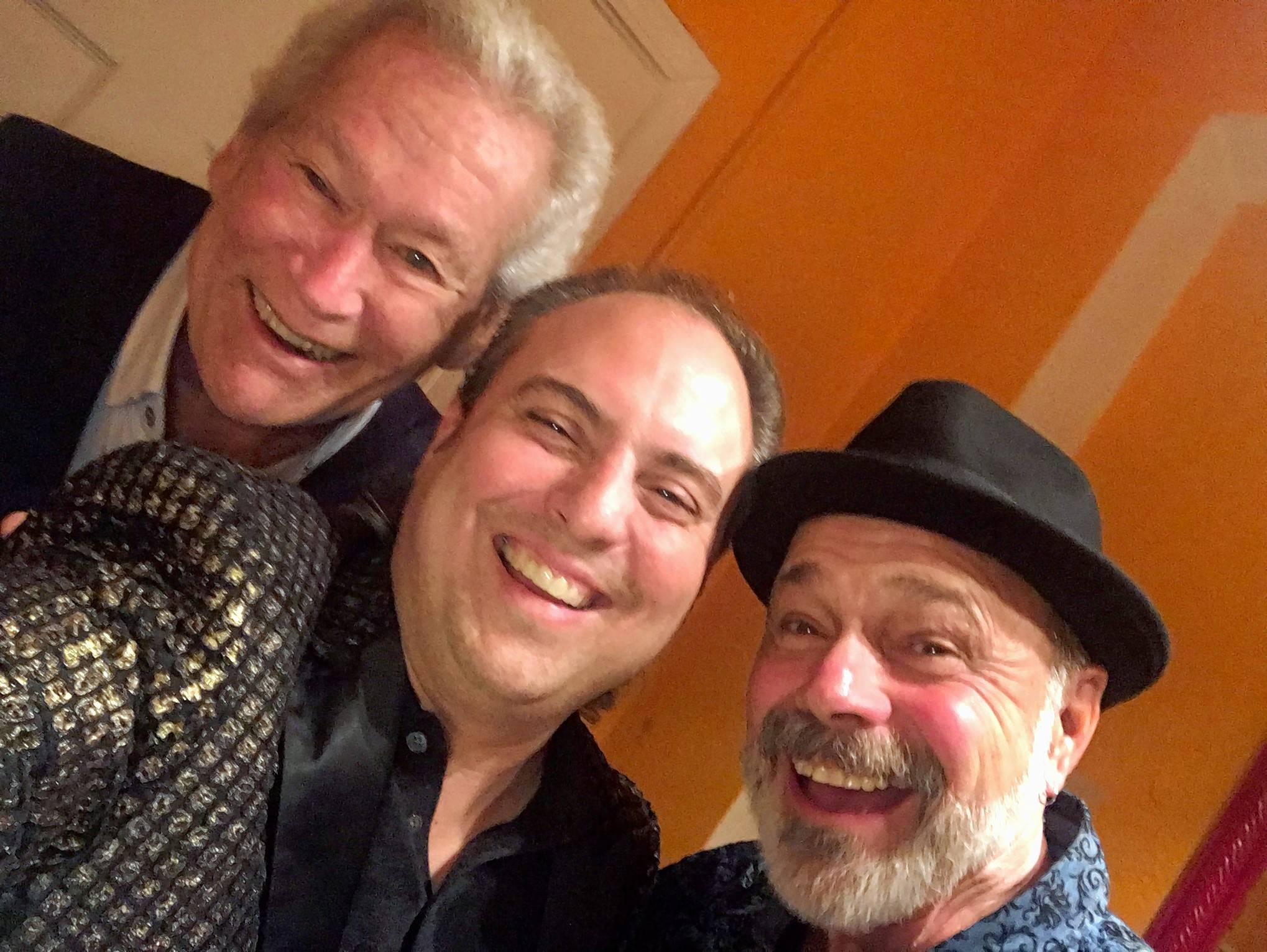 "California Transit Authority's Bill Champlin, left, and Danny Seraphine, right, joined The Buckinghams at The Arcada last week for ""Rockin' Chicago Style."" Pictured in the center is Ron Onesti of The Arcada and Onesti Entertainment."