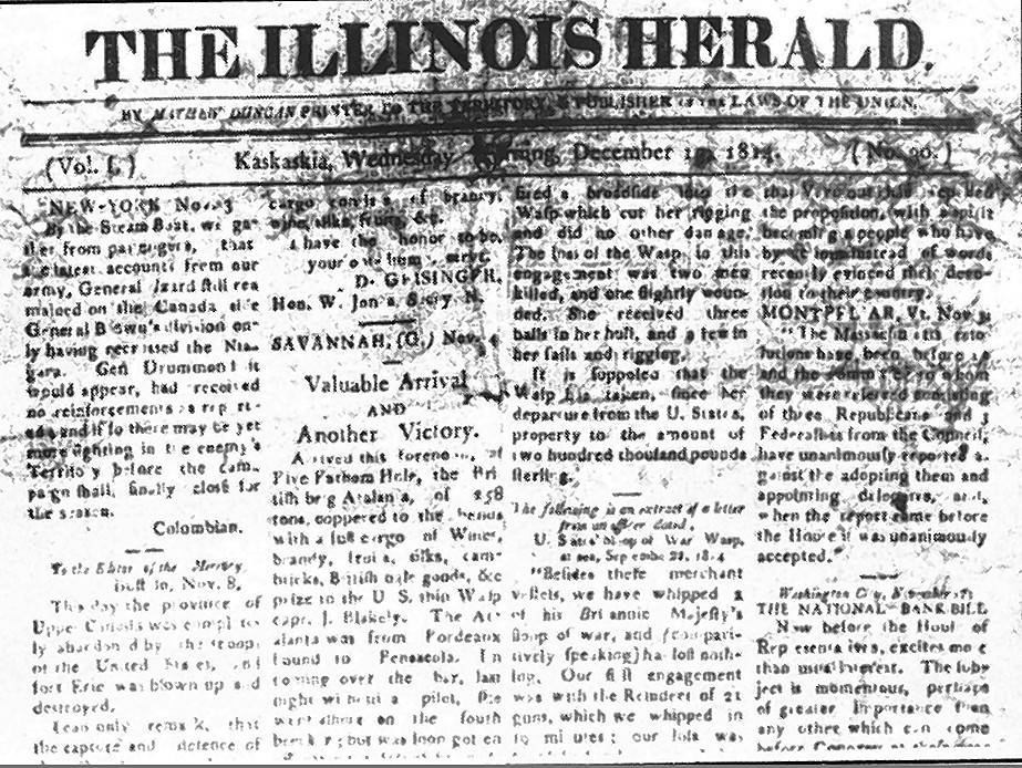 The history of newspapers in Illinois (even before it was a state)