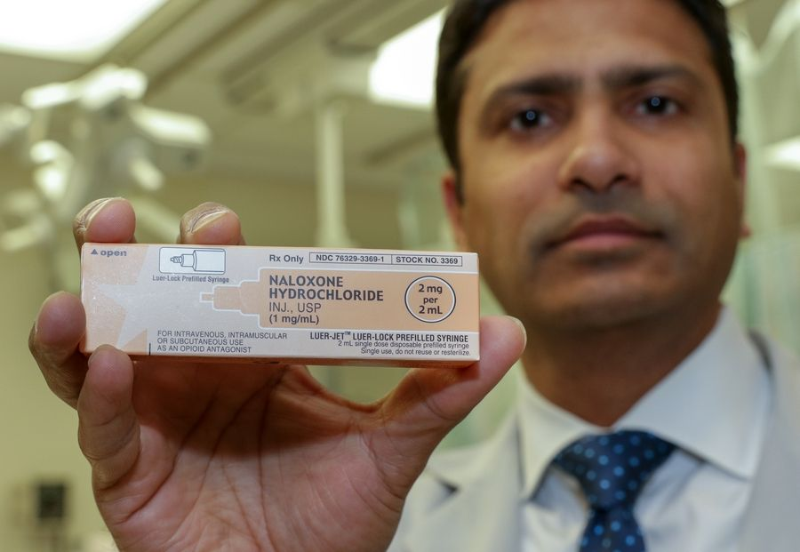 Dr. Dipul Patadia says naloxone might save overdose patients from dying, but it doesn't cure their addiction.