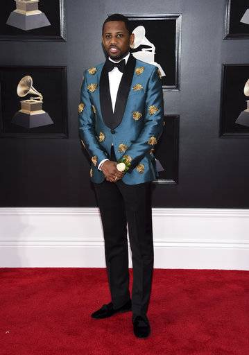 Fabolous arrives at the 60th annual Grammy Awards at Madison Square Garden on Sunday, Jan. 28, 2018, in New York. (Photo by Evan Agostini/Invision/AP)