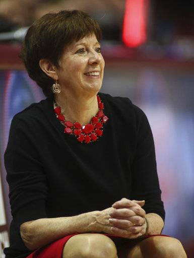 Notre Dame coach Muffet McGraw reacts in the fourth quarter of an NCAA college basketball game against Florida State, Sunday, Jan. 28, 2018, in Tallahassee, Fla.