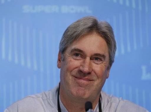 Philadelphia Eagles head coach Doug Pederson smiles during NFL football Super Bowl 52 Opening Night Monday, Jan. 29, 2018, at the Xcel Center in St. Paul, Minn.