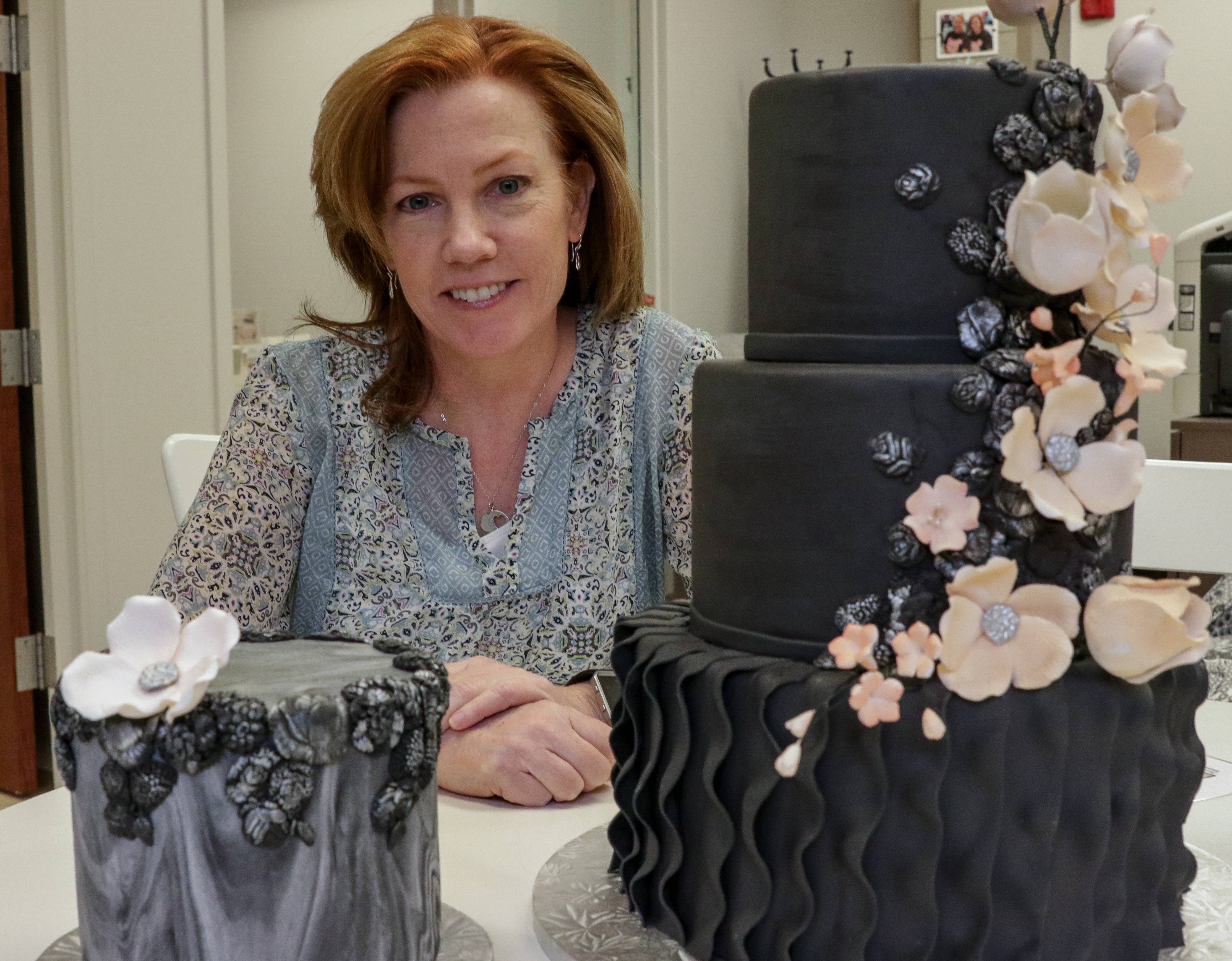 Beth Fahey owns the new Creative Cakes Design Studio in Naperville with her sister, Becky Palermo. The design center opened last week as a consultation location for Creative Cakes Bakery & Cafe in Tinley Park, which the sisters have owned since 2003.